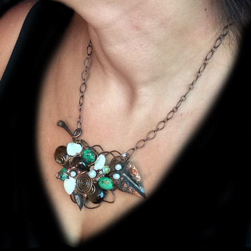 Delicate Turquoise Copper Necklace