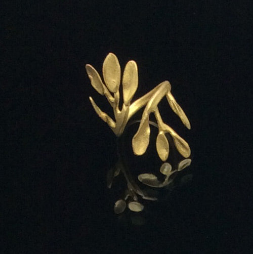 Bronze Leaves Ring - Nurit Niskala
