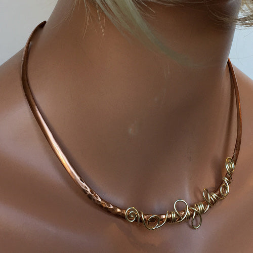 Delicate Copper Sterling Choker - Nurit Niskala