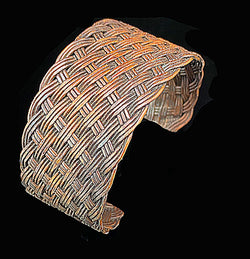 Pure Copper Weaved Cuff - Nurit Niskala