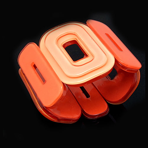 Lucite Orange Bracelet. - Nurit Niskala