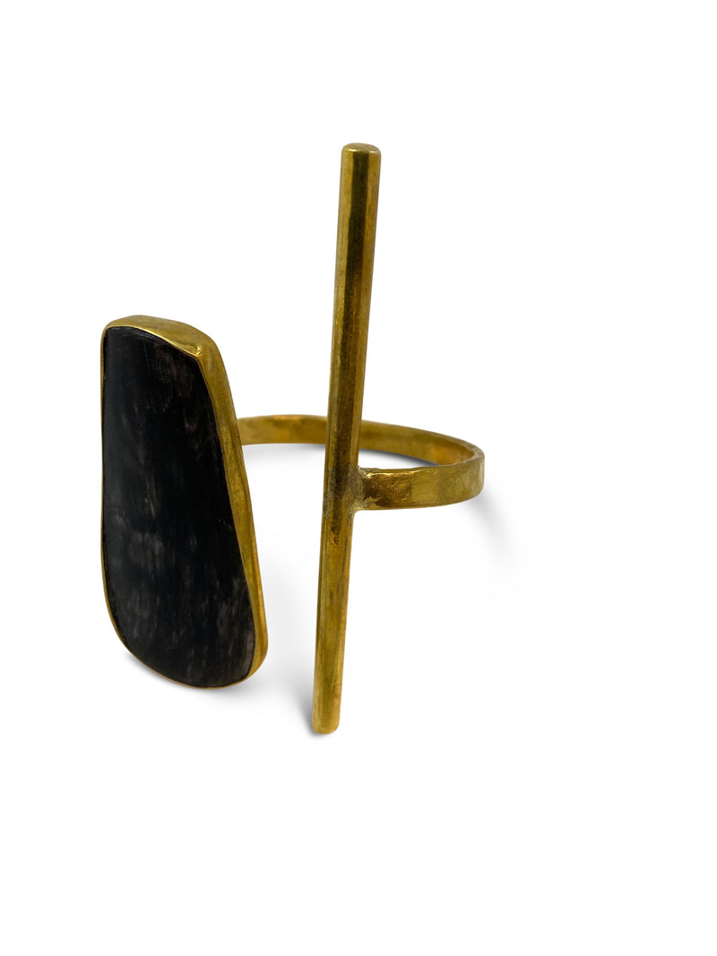 Bronze Black Bone Cuff - Nurit Niskala