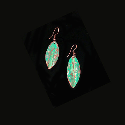 Turquoise Copper Patina Earrings - Nurit Niskala