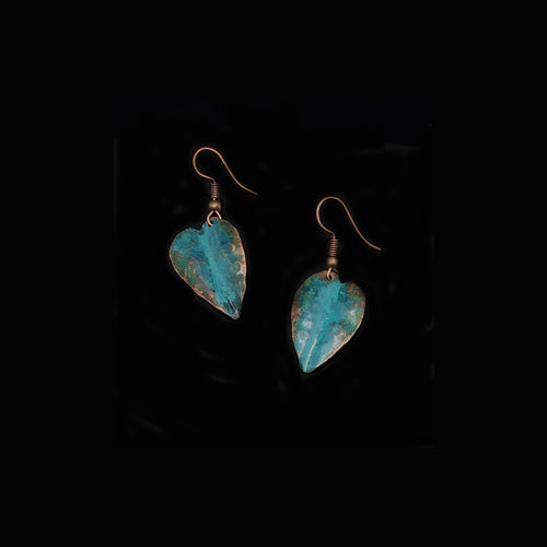 Little Offside Leaves Copper Earrings - Nurit Niskala