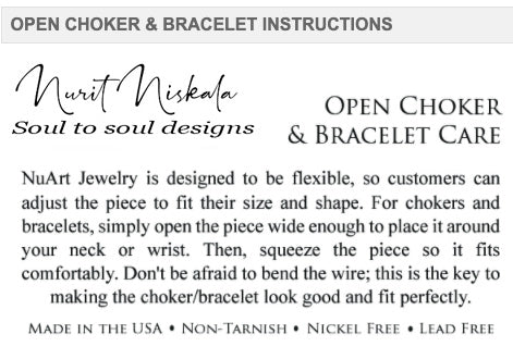 Brown Open Choker - Nurit Niskala