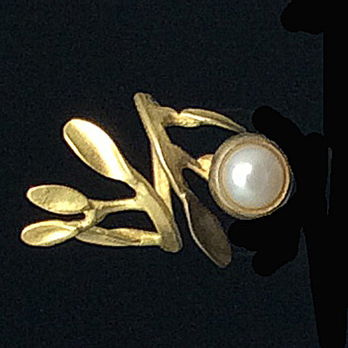 Bronze White Pearl  Rings - Nurit Niskala