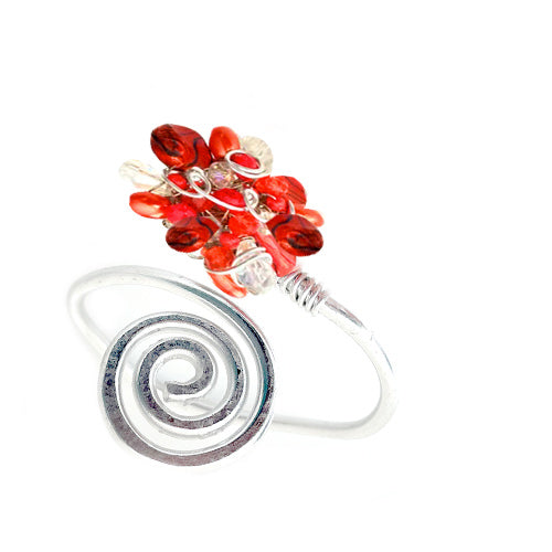 Red Open-Wire Bracelet