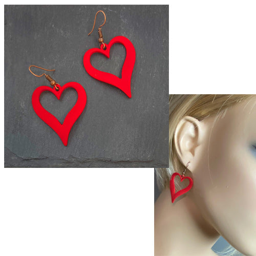 Red Heart Earrings - Nurit Niskala