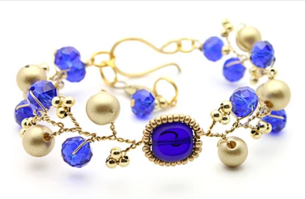 Blue Gold Necklace - Nurit Niskala