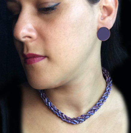 Purple V Twisty Copper Choker Design*