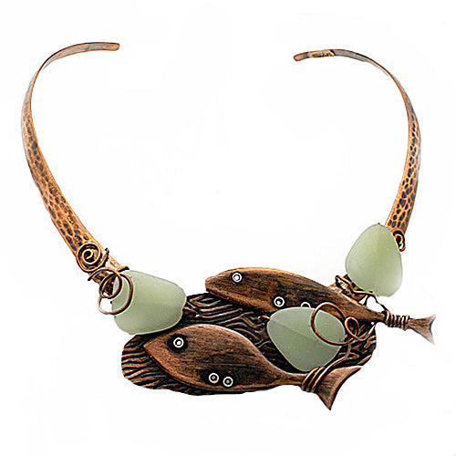 Sea Glass Copper Choker - Nurit Niskala