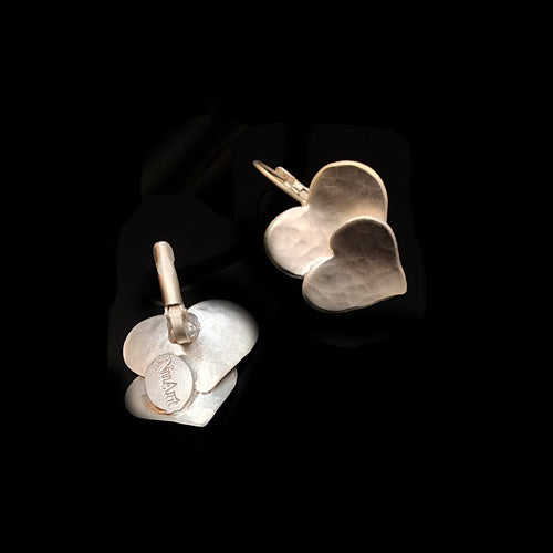 Artistic Silver Hearts Earrings