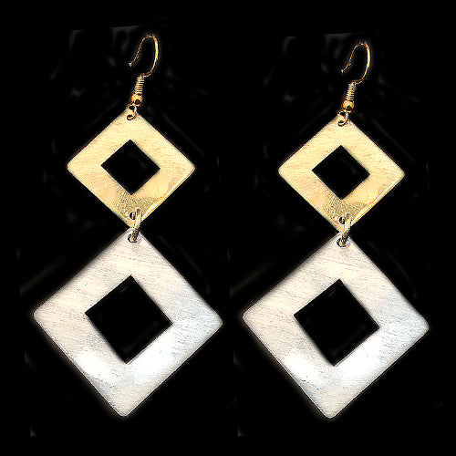 Hollow Square Drop Earrings*