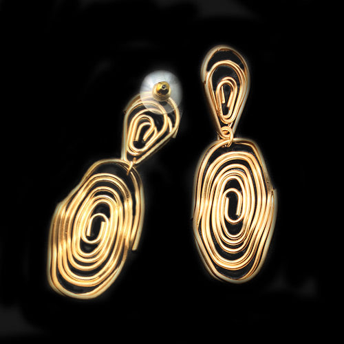 Twisted Matte Gold Earrings*