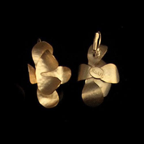 Artistic Gold Flower Earrings*