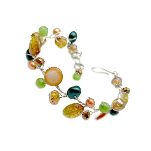 Orange Green Delicate Bracelet