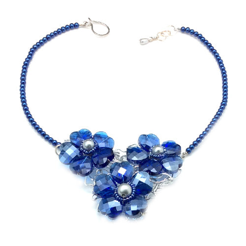 Blue Aurore Boreale Crystal Necklace*
