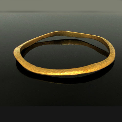 Bronze Thick Bangle - Nurit Niskala