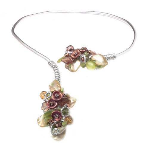 Light Green bronze Open Choker