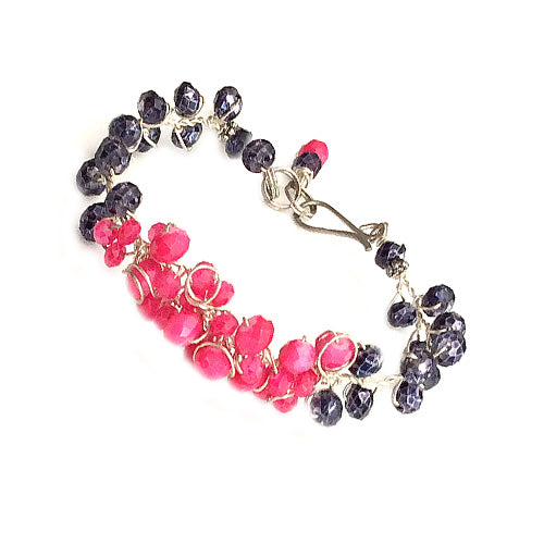 Pink and deep grey Bracelet