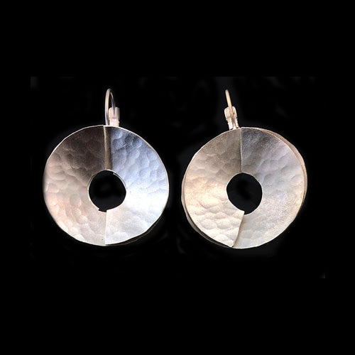 Artistic Silver Circle Earrings*