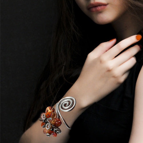 Orange Open-Wire Bracelet