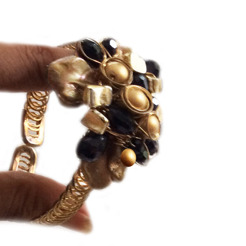 Adjustable Gold Black Bracelet