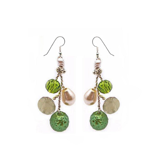 Green Earrings - Nurit Niskala