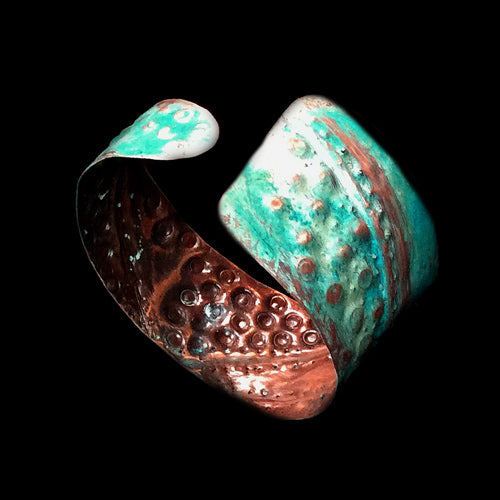 Light Turquoise Copper Cuff