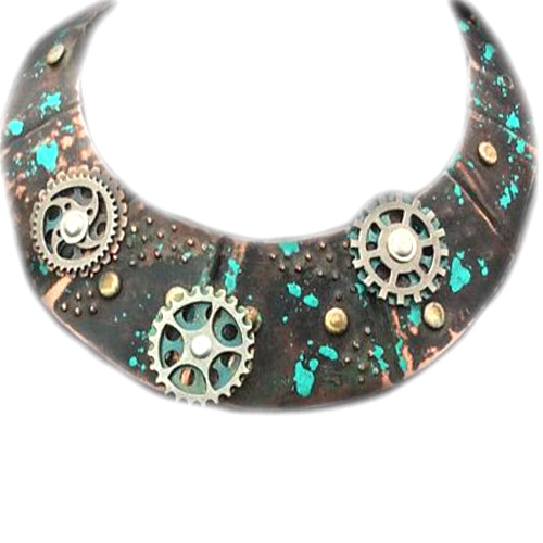 Steampunk Patina Copper Choker*