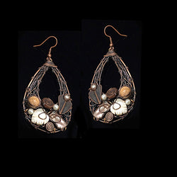 Statment Pearls Copper Earrings - Nurit Niskala