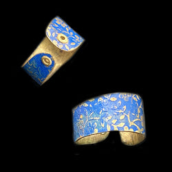 Lapis Blue Brass Ring*