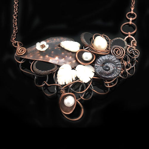 Delicate Pearl Copper Necklace*