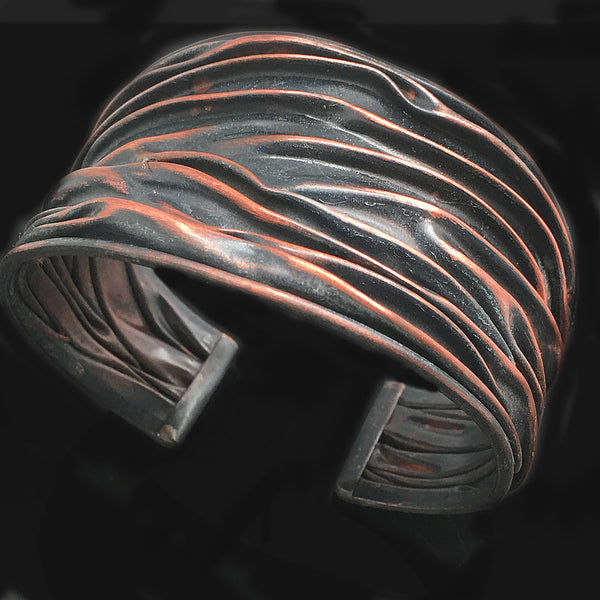 Folding & Raising Copper Cuff - Nurit Niskala