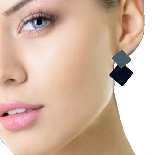 Two squared blue  Earrings