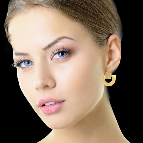 Two Part Gold Earrings