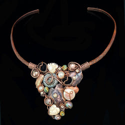 Weaving Copper Choker - Nurit Niskala