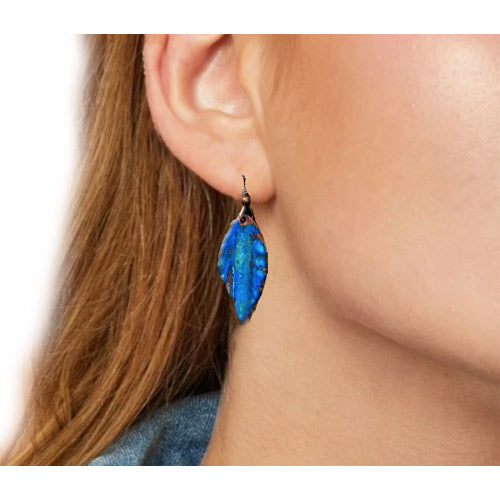 Lapis Patina Leaves Earrings - Nurit Niskala