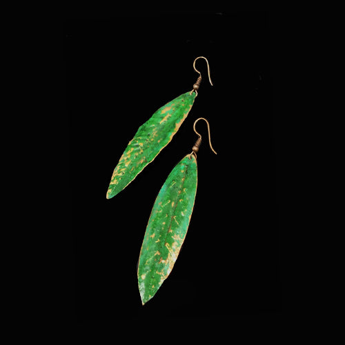 Green Copper Patina Earrings - Nurit Niskala