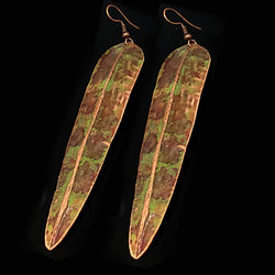 Military Copper Patina Earrings - Nurit Niskala