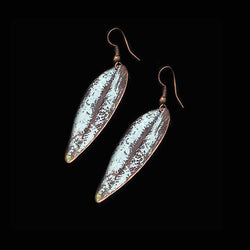 White Copper Earrings - Nurit Niskala