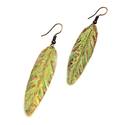 Honey Muster Copper Patina Earrings - Nurit Niskala