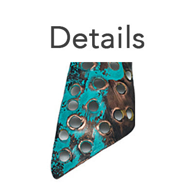 Geometric Verdigris Copper Earrings - Nurit Niskala