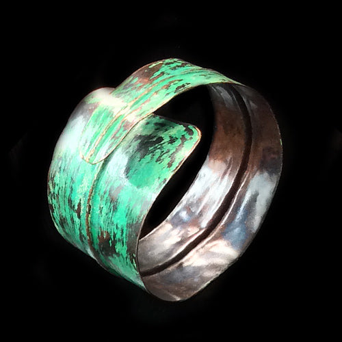 Form-folding Green Copper Cuff