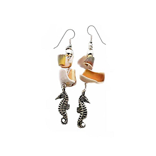 Seahorse Shell Earrings - Nurit Niskala