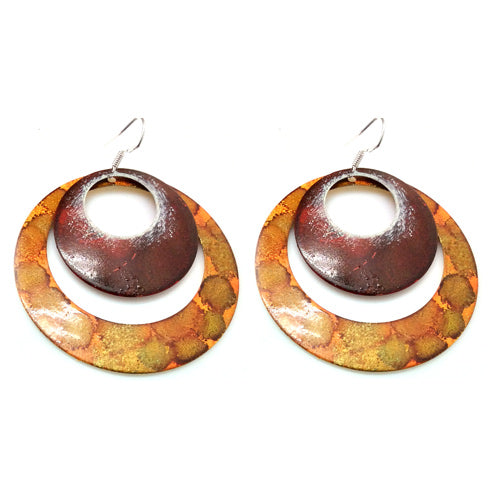 Enamel Paint Fire Earrings