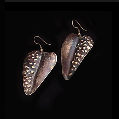 Brown Leaves Earrings - Nurit Niskala