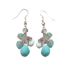Aqua V Nautical Earrings