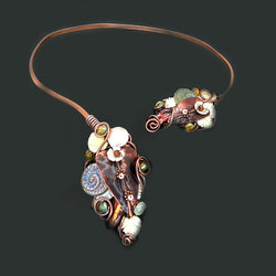 Woven Adjustable Copper Necklace*