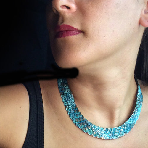 Turquoise Copper Woven Set